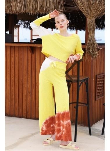 Latin Quarter Batik Desenli Oversize İkili Takım Sarı